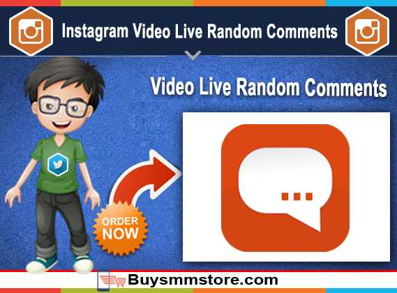 Instagram Video Live Random Comments